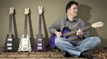 Olaf Diegel 3D printed ODD guitars